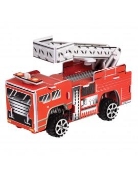 Brandweerwagen bouwset met motor