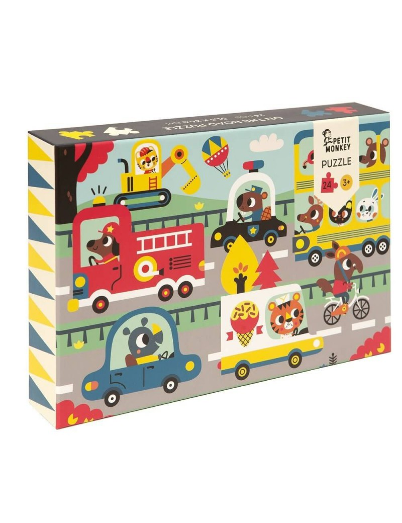 Puzzel in het verkeer - Petit Monkey