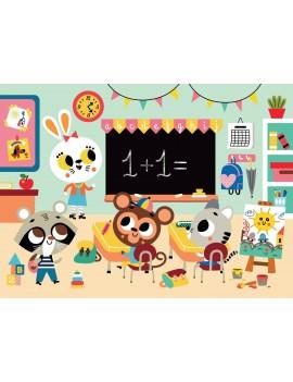 Puzzel op school 3+ Petit Monkey