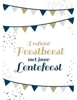Lentefeest kaartje feestbeest