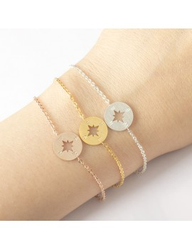 Wanderlust armband windroos zilver