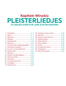 Pleisterliedjes boek + cd - Kapitein Winokio