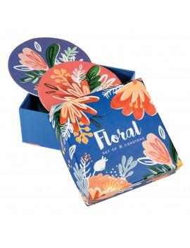 Floral onderzetters (set van 8)