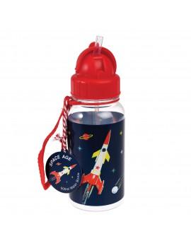 Drinkfles space raket rood