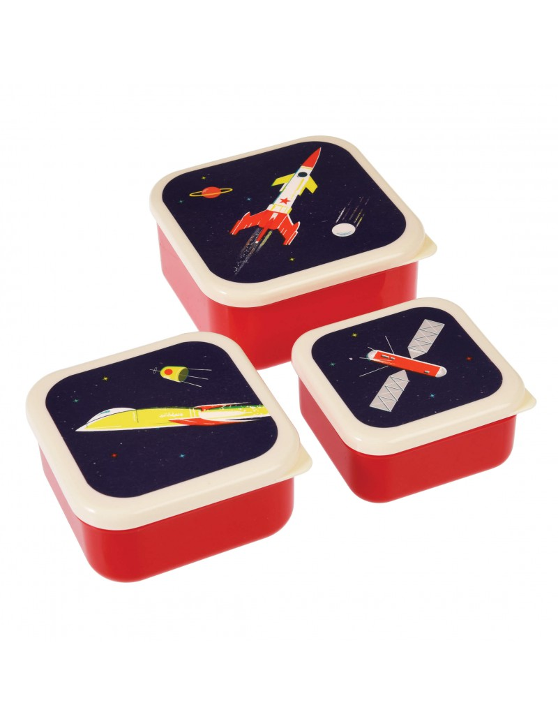 Snackdoosjes space raket (set van 3)