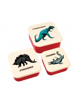 Dino snackdoosjes (set van 3)