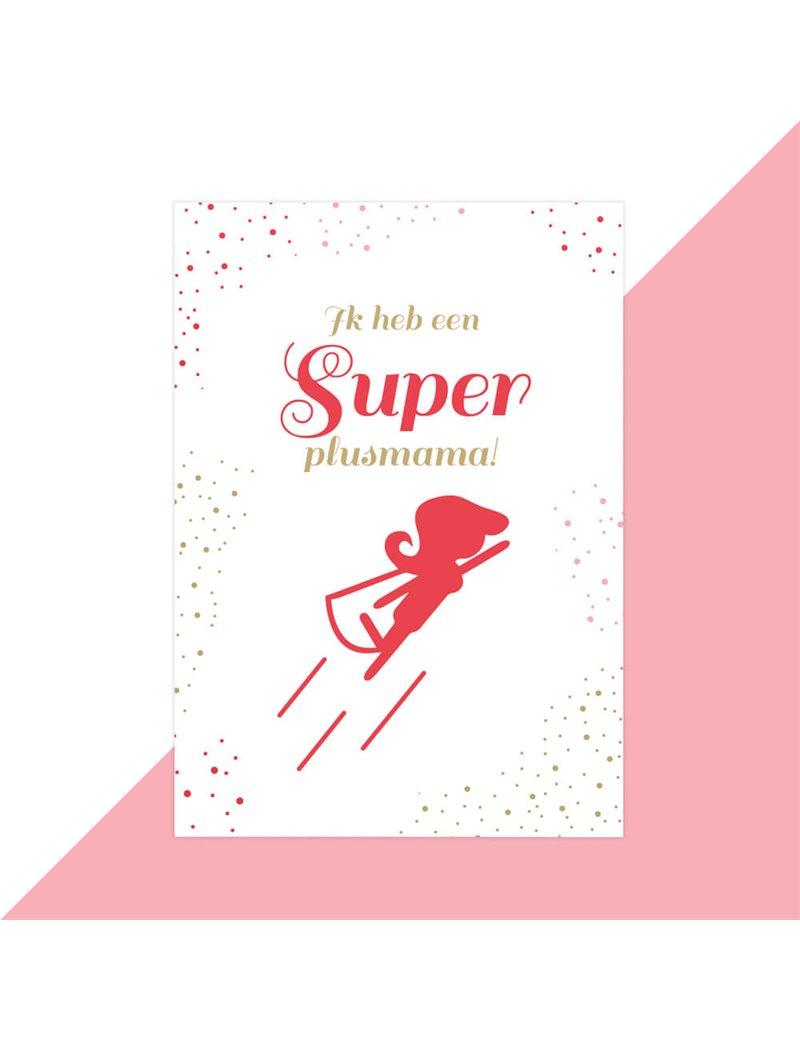 Moederdag kaart super plusmama