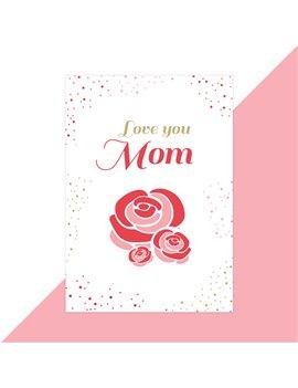 Moederdag kaart love you mom