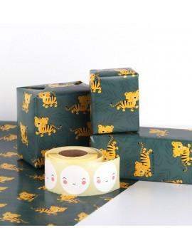 Kaftpapier inpakpapier tijger jungle - A Little Lovely Company