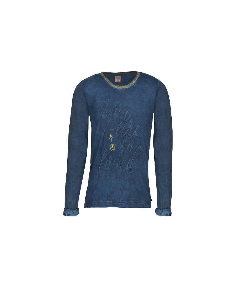 longsleeve 'You are so loved' - Indian Blue Jeans