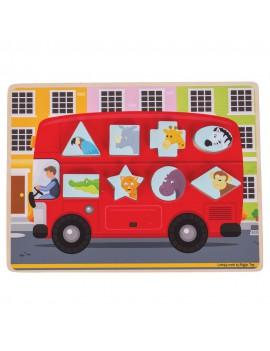 Houten puzzel 3D bus - BigJigs
