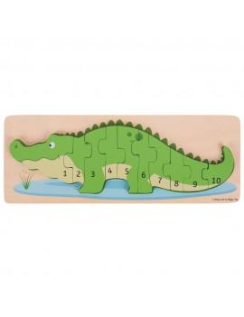 Houten puzzel 3D krokodil - BigJigs