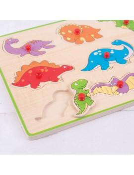 Houten puzzel dino 3D - BigJigs