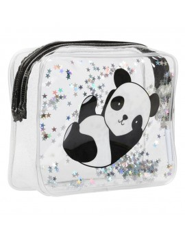 Glitter toilettas panda - A Little Lovely Company