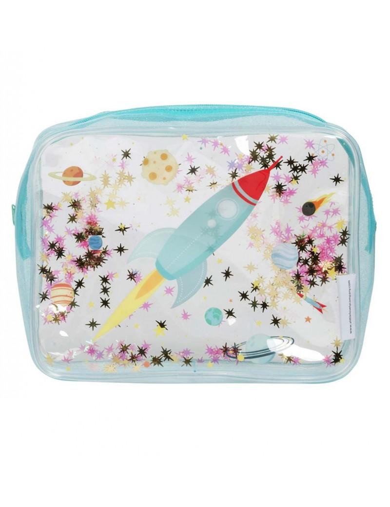 Glitter toilettas space raket - A Little Lovely Company