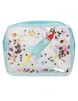 Glitter toilettas space raket - A Little Lovely Company
