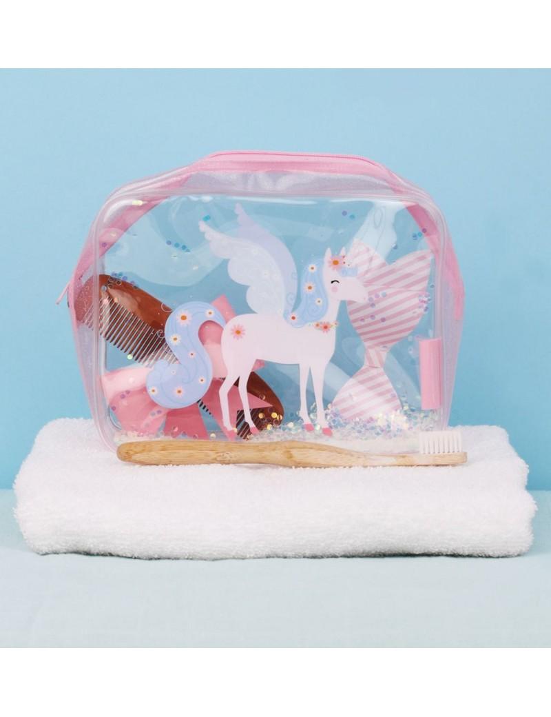 Glitter toilettas eenhoorn - A Little Lovely Company