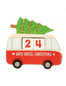 Kerst aftelkalender busje - Sass & Belle