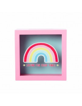Roze spaarpot regenboog - Sass & Belle