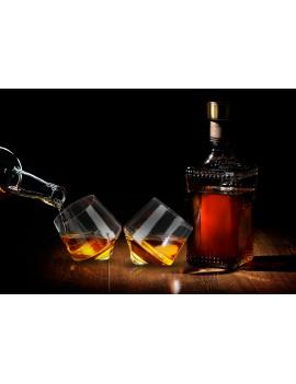 Rollende whisky glazen