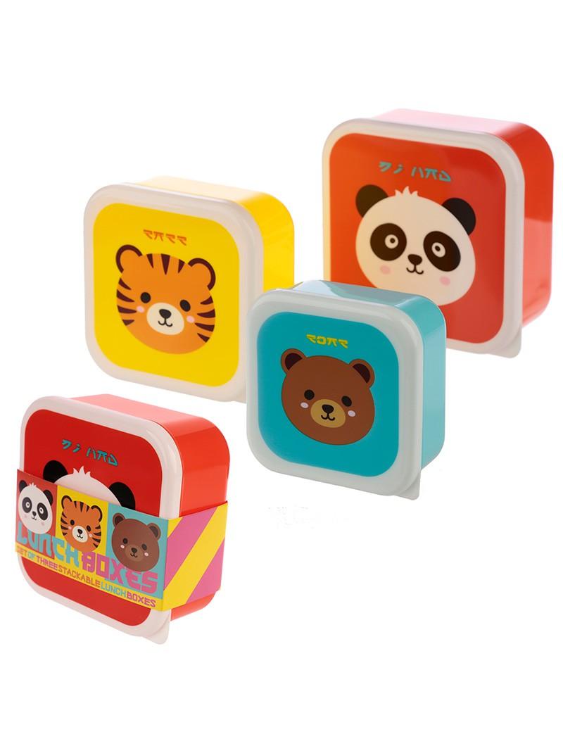 Brooddoos snackdoosjes Chinese dieren set van 3