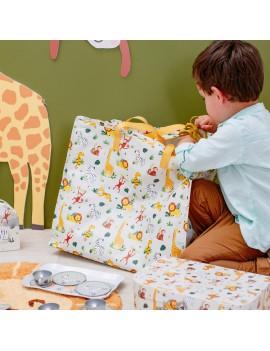 XL Shopping bag savanne wilde dieren - Sass & Belle