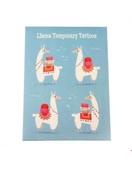 Tijdelijke tattoos lama alpaca