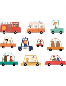 Kinderpuzzel beep beep 3-6 jaar - Londji