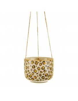 Hangende bloempot luipaard print - Sass & Belle