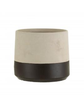 Bloempot cement zwarte dip - Sass & Belle