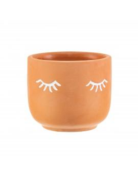 Terracotta bloempot oogjes - Sass & Belle