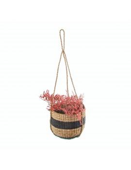 Hangende bloempot gestreepte mand - Sass & Belle