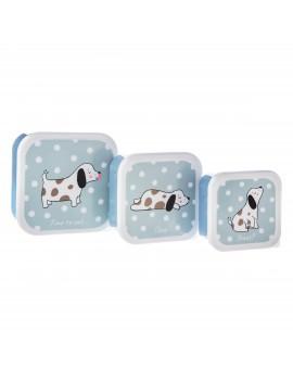 Brooddoos lunchbox honden set van 3 - Sass & Belle
