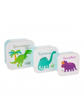 Brooddoos lunchbox dino set van 3 - Sass & Belle