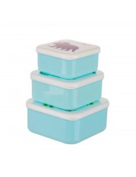 Brooddoos lunchbox dino set van 3 - Sass & Belle