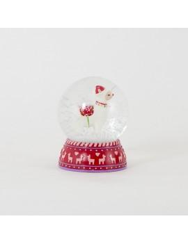 Lama kerst snowglobe - Sass & Belle