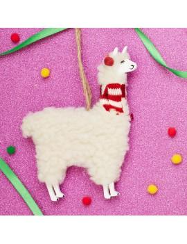 Kersthanger lama alpaca - Sass & Belle