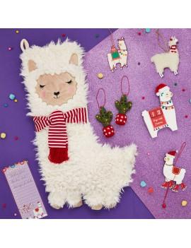 Trek kerstdecoratie lama - Sass & Belle