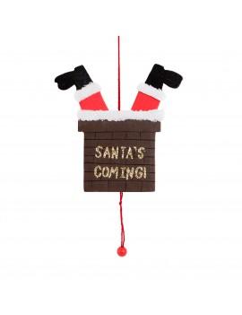 Trek kerstdecoratie kerstman - Sass & Belle