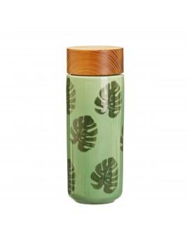 Dubbelwandige drinkfles kaasplant - Sass & Belle