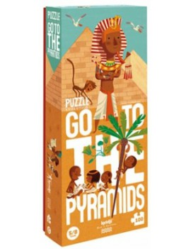 Go to the pyramids puzzel 5+ jaar - Londji