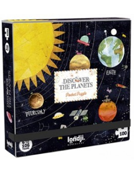 Pocket puzzel discover the planets 6+ jaar - Londji