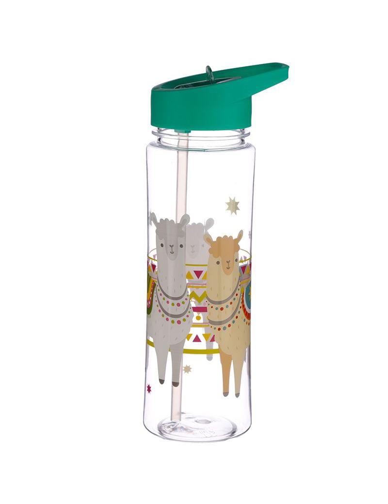 Drinkfles met rietje lama - Puckator