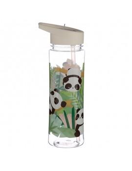 Drinkfles met rietje panda - Puckator