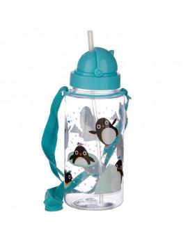 Drinkfles met rietje pinguin - Puckator