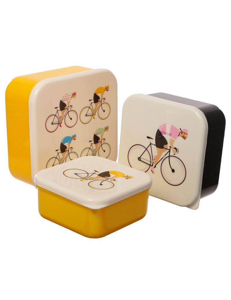 Brooddoos fiets koers set van 3 - Puckator