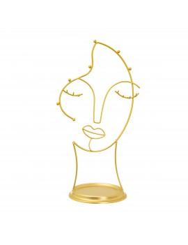 Juwelenhouder gezicht goud - Sass & Belle