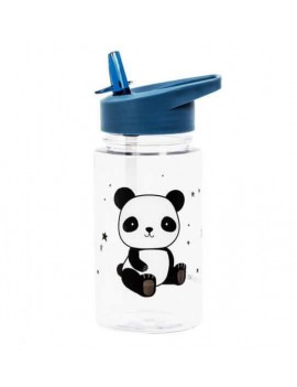 Panda drinkfles met rietje - A Little Lovely Company
