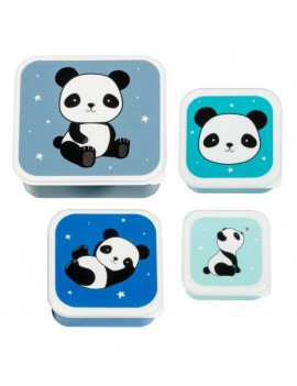 Panda snackdoosjes set van 4 - A Little Lovely Company