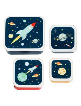 Space snackdoosjes set van 4 - A Little Lovely Company